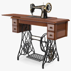 antique sewing machine 3D