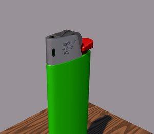 bic lighter 3D
