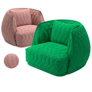 3D model moroso redondo armchair