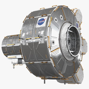 iss quest joint airlock 3D model