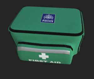 3D metropolitan police aid kit model