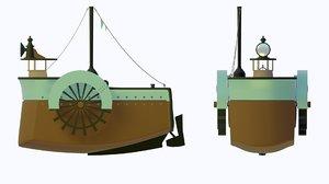 3D model tug ship