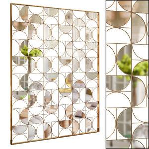 3D decorative partition set 54 model