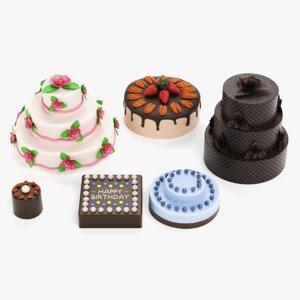3D cakes pbr model