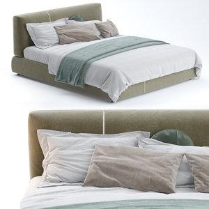 3D model sanders upholstered bed ditre