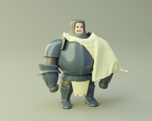 3D knight mmo cartoon