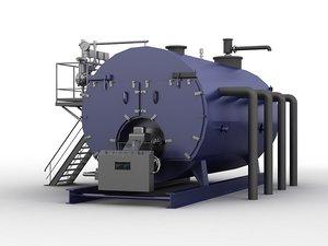 3D industrial boiler senergy valve