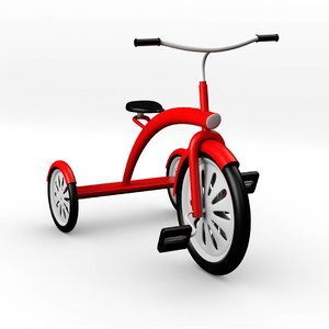 3D trike tricycle bike model