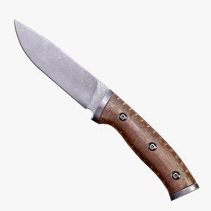 3D buck selkirk tactical knife