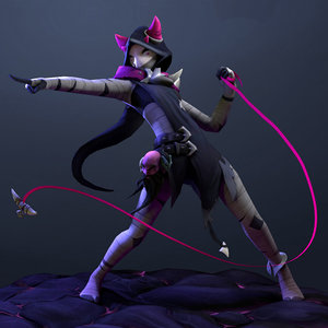 3D rig animation nora