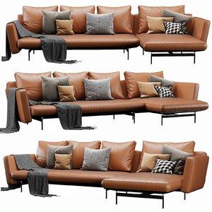 b italia sake chaise lounge 3D model