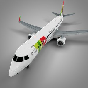 3D model tap express embraer195 l690