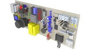 electronics board 3D