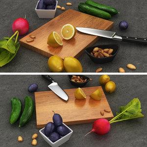 food scane 01 3D model