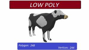 cow animals mammal 3D model