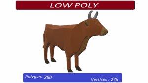 3D cow animals mammal