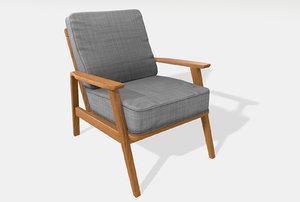 vintage armchair 3D