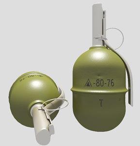 3D rgd-5 hand grenade