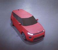 KIA Soul 2020 lowpoly 3D model