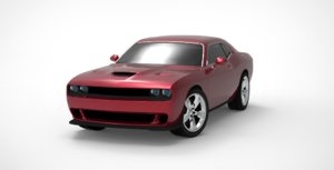 3D muscle car dodge challenger