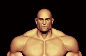 bodybuilder anatomy 3D model