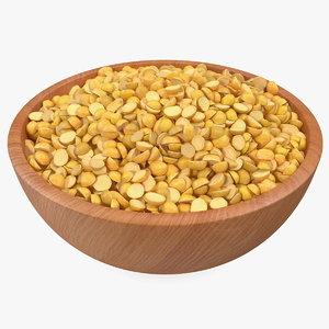 3D model plate split mung beans