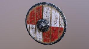 low-poly shield 3D