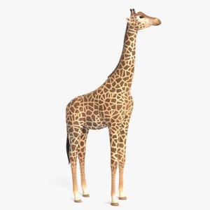 3D giraffe pbr model