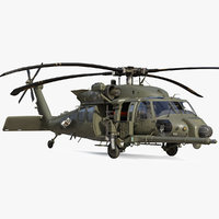 Combat Rescue Helicopter Sikorsky HH60 Rigged