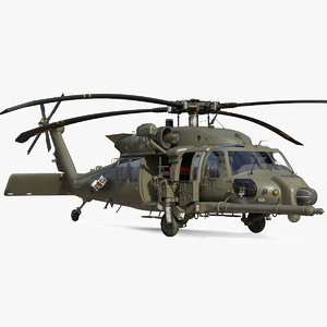 combat rescue helicopter sikorsky 3D model