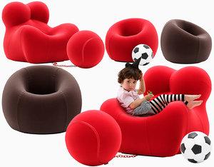 3D child armchair junior model