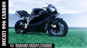 ducati 996 carbon fiber model