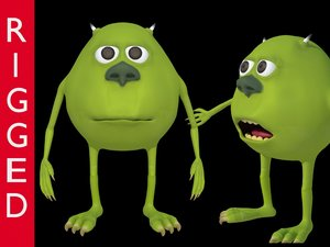 3D character mike wazowski meme model