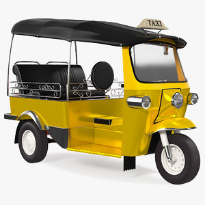 3D wheeler auto rickshaw model