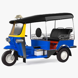 traditional tuk taxi 3D