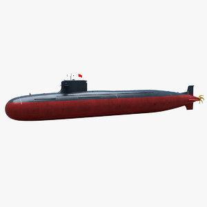 3D type 093 shang-class ssn model