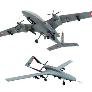 turkish baykar uavs 3D model