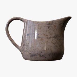 3D marble milk jug
