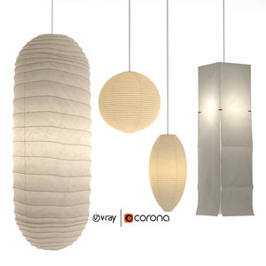 akari paper japan lantern model