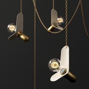 3D chain chandelier