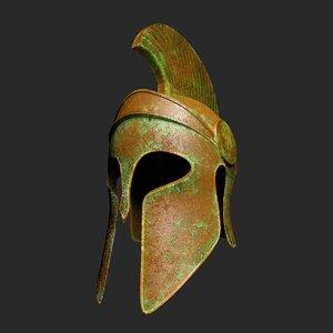 3D greek helmet 1 model