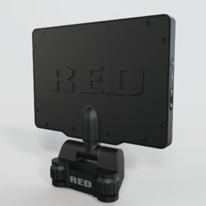 3D red touch monitor