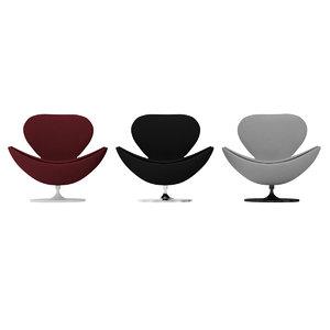 egg chair armchair 3D model
