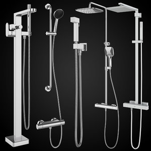 shower systems villeroy boch 3D model