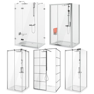 3D ravak radaway shower set model