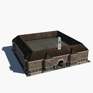 school building 0002 3D model