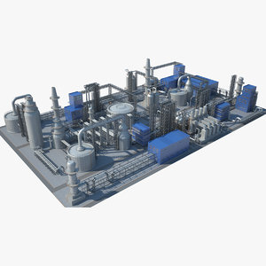 industrial area 06 3D model