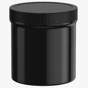 3D plastic jar wide mouth