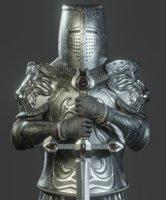 Templar Knight Armor Lion