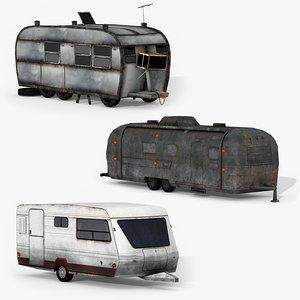 3D small caravans